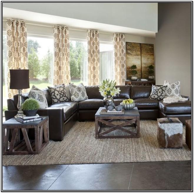Dark Brown Furniture Living Room Decorating Ideas