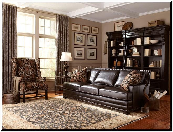 Dark Brown Leather Couch Living Room