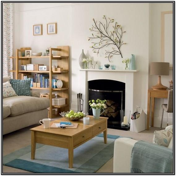 Duck Egg Blue And Beige Living Room