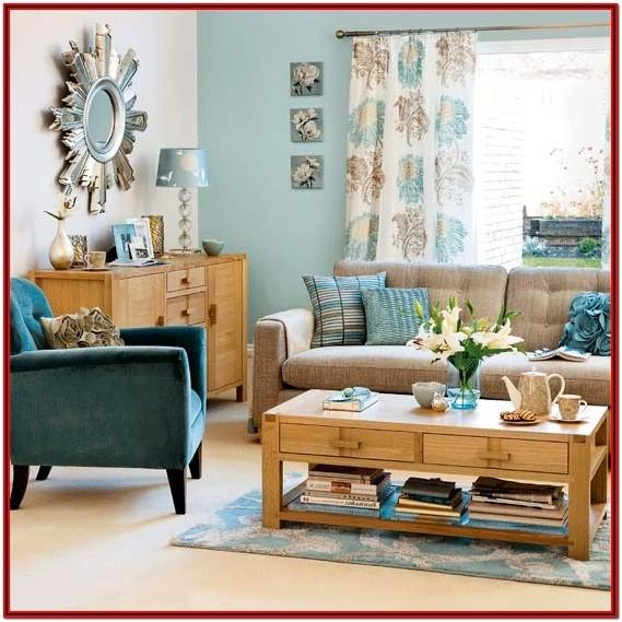 Duck Egg Blue And Brown Living Room Ideas
