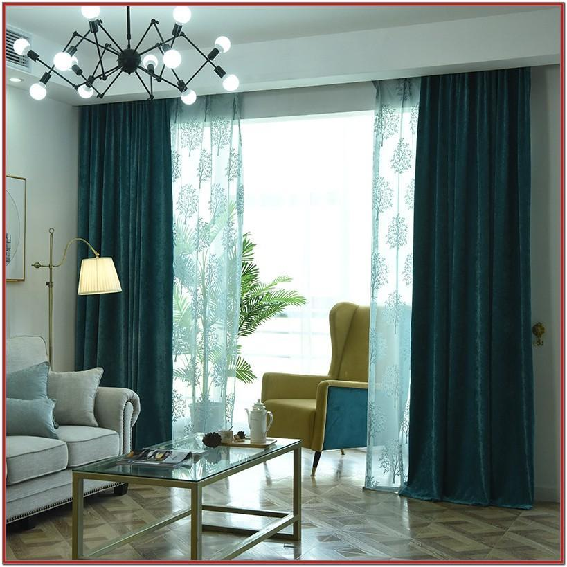 Elegant Green Curtains For Living Room