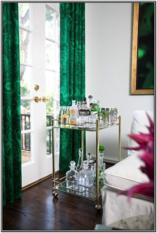 Emerald Green And Gold Living Room Decor