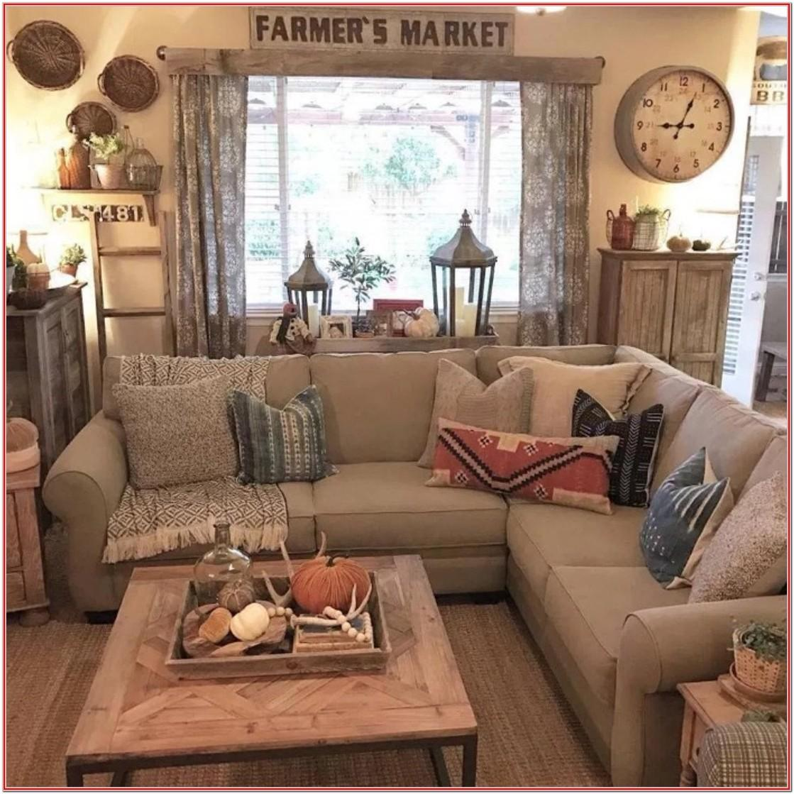 Farmhouse Country Living Room Curtains