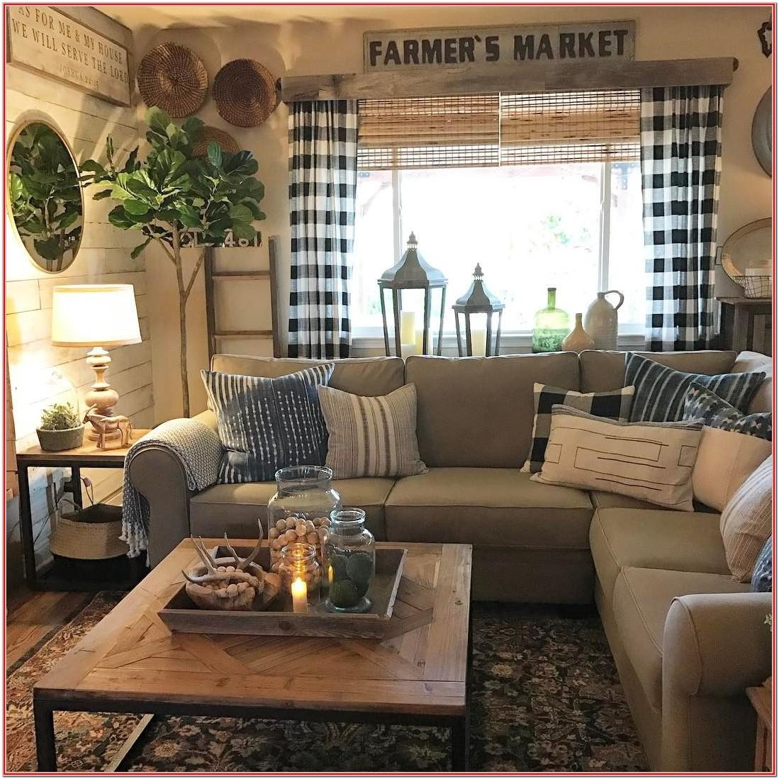 Farmhouse Country Living Room Decor