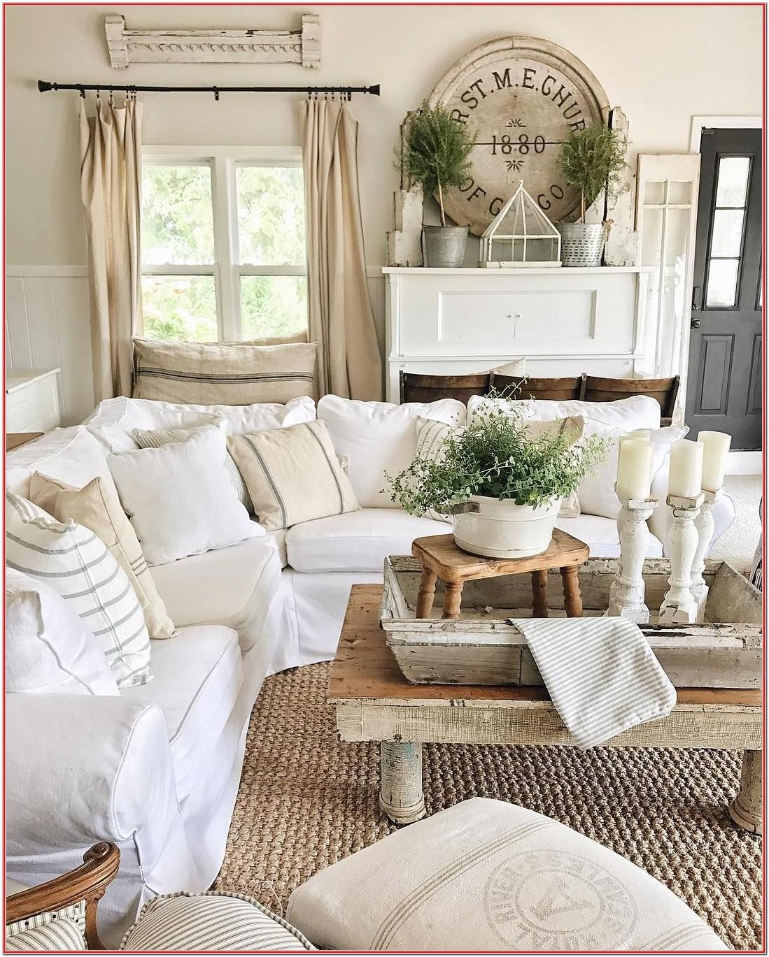 Farmhouse Country Living Room Furniture Sets