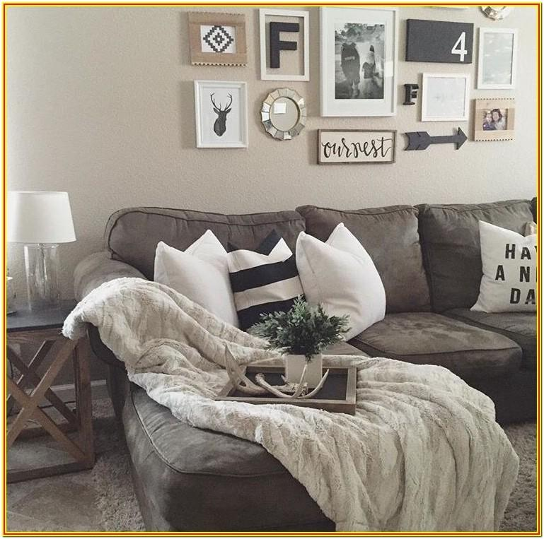 Farmhouse Dark Grey Couch Living Room