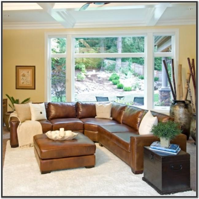 Farmhouse Living Room Ideas With Leather Furniture
