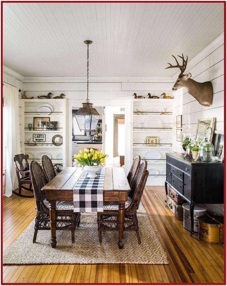 Farmhouse Rustic Vintage Living Room Decor