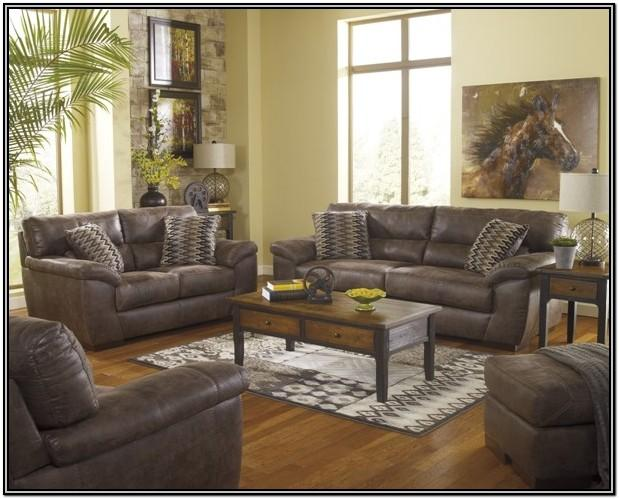 Faux Leather Living Room Set