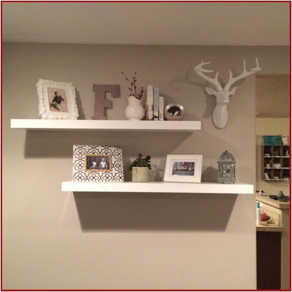 Floating Shelves Living Room Decor
