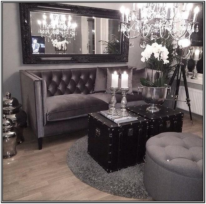 Glamorous Black And Silver Living Room