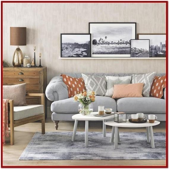 Gray And Orange Living Room Ideas