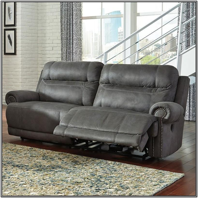 Gray Reclining Living Room Set