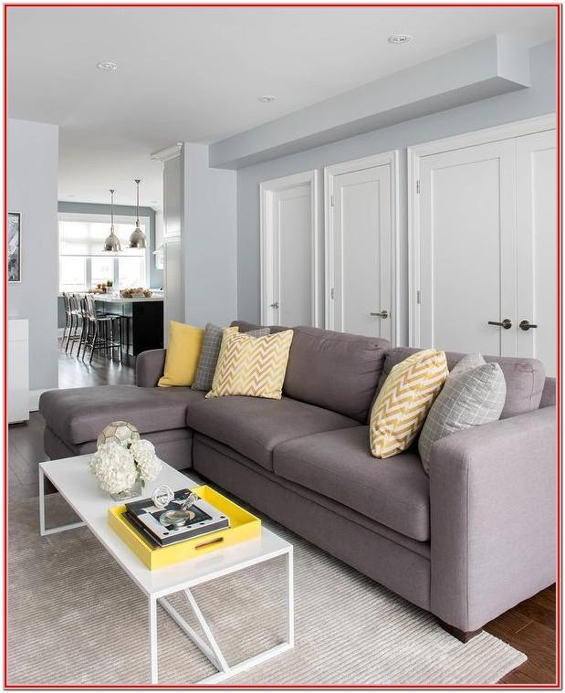 Gray White And Yellow Living Room Ideas