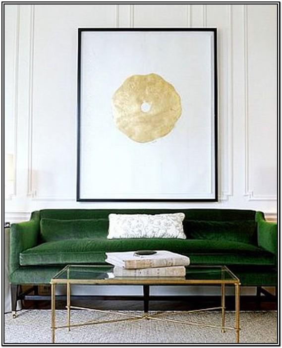Green And Gold Living Room Decor