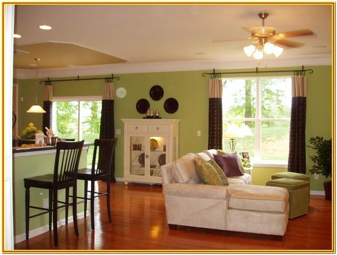 Green Walls Living Room Decorating