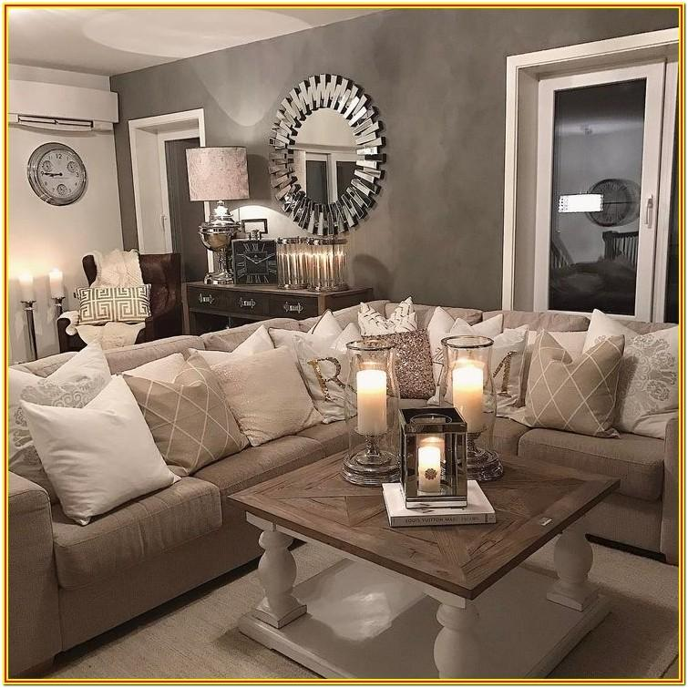 Grey And Tan Living Room
