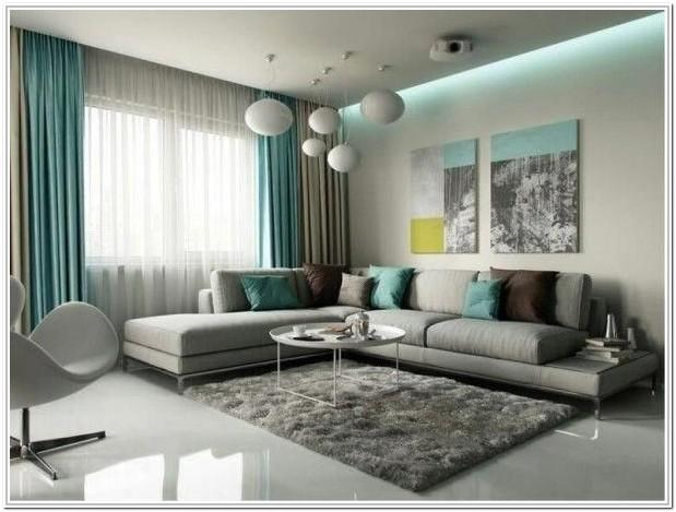 Grey And Turquoise Living Room Decor