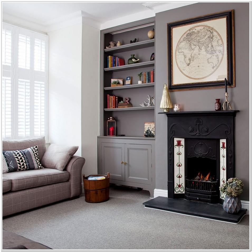 Grey Feature Wall Ideas Living Room With Fireplace
