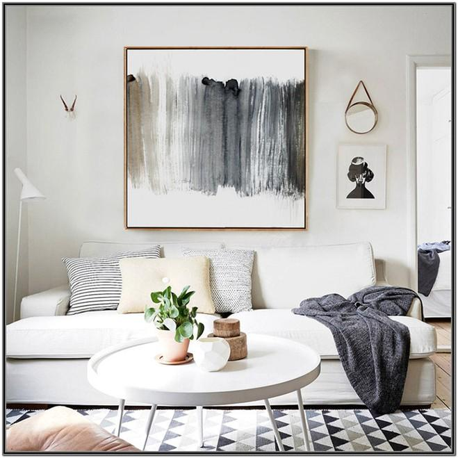Grey Living Room Modern Wall Decor