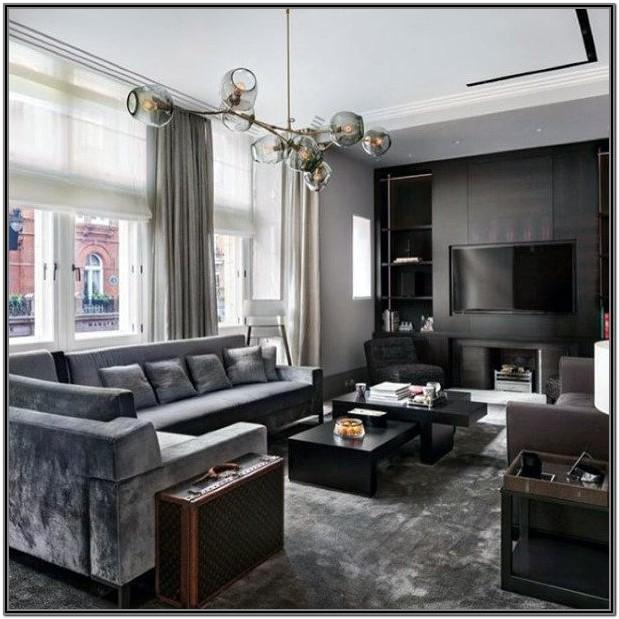 Grey Masculine Living Room Ideas