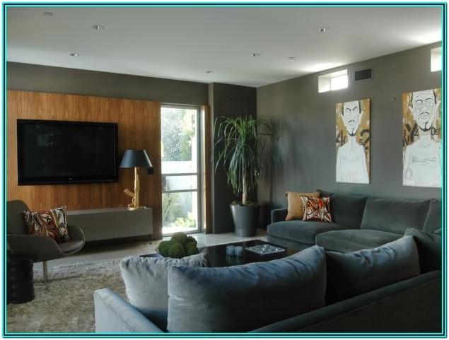 Grey Modern Home Living Room