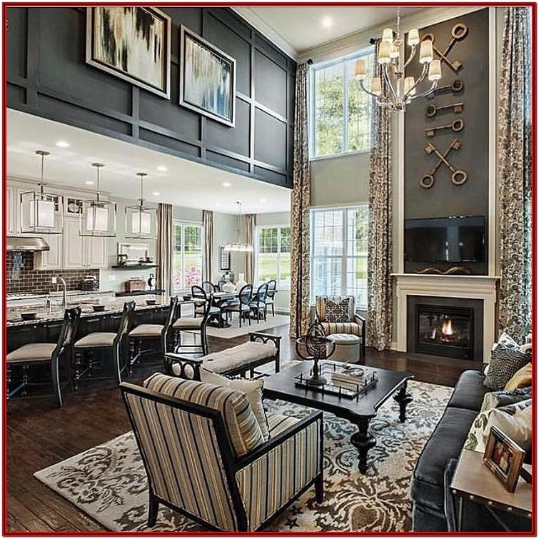 High Ceiling Living Room Wall Decor