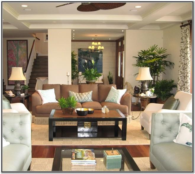 Island Tropical Living Room Decor