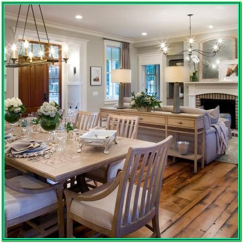 Kitchen Dining And Living Room Combo