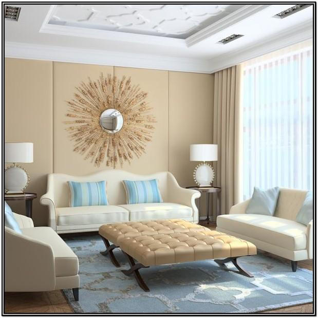 Light Blue And Beige Living Room