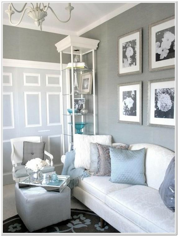 Light Blue Gray Walls Living Room