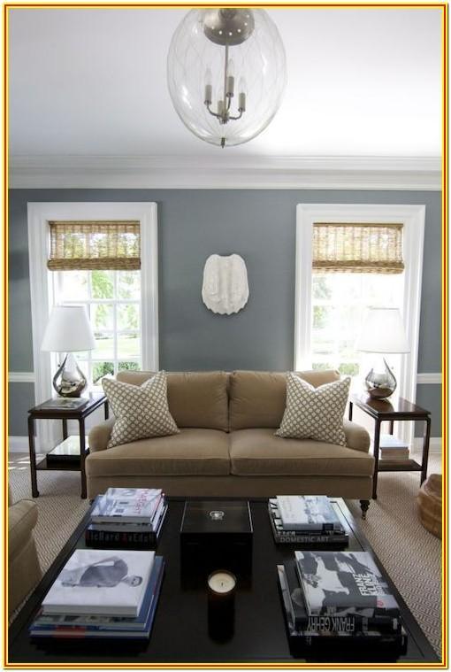 Light Gray And Tan Living Room