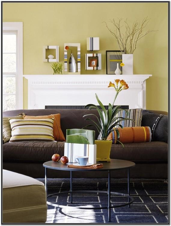 Living Room Accent Colors For Brown Couch