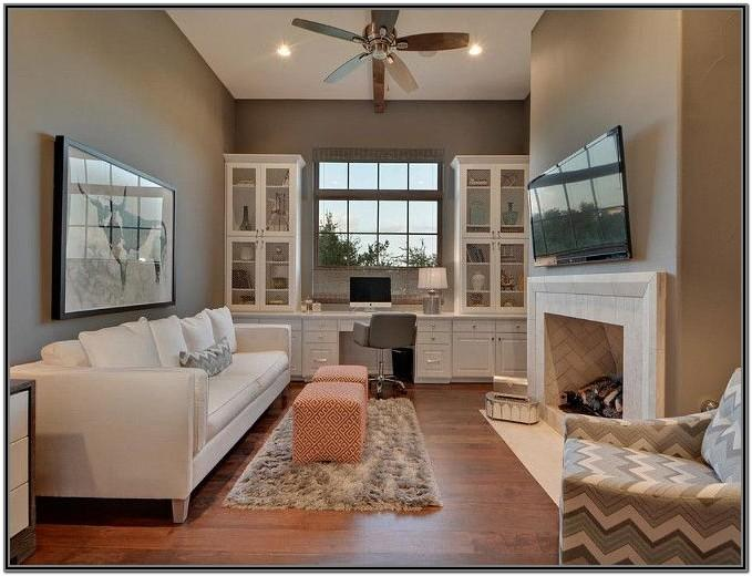 Living Room And Home Office Combination