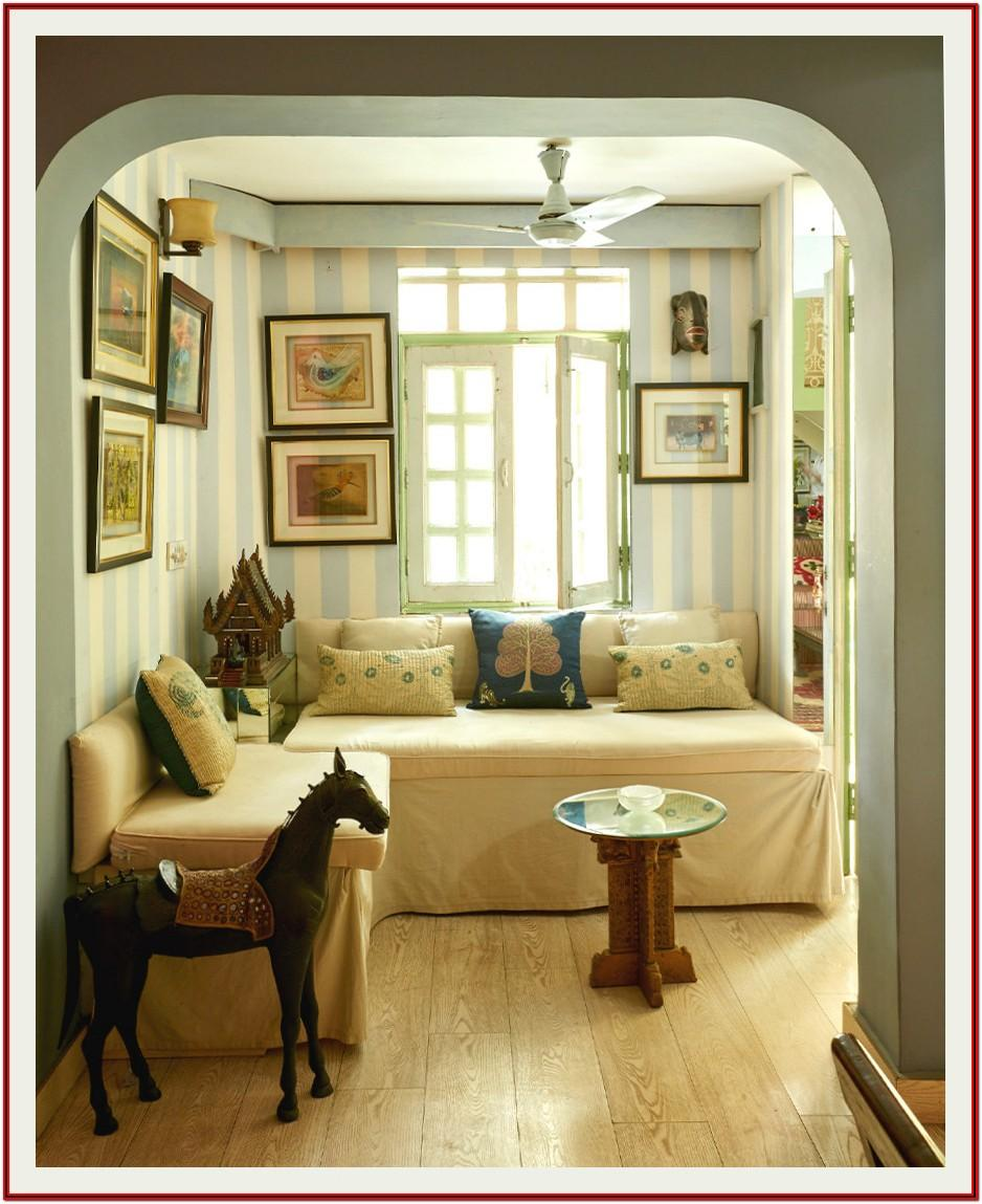 Living Room Architectural Digest India