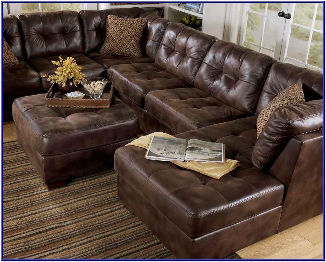 Living Room Ashley Furniture Leather Sofa