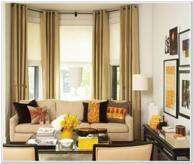Living Room Bay Window Valance Ideas