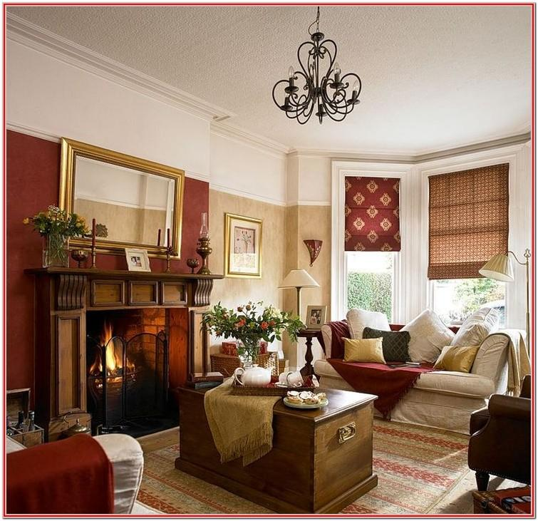 Living Room Burgundy Home Decor