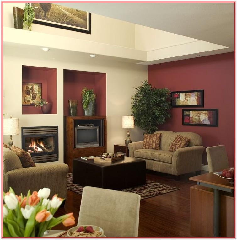 Living Room Burgundy Wall Decor