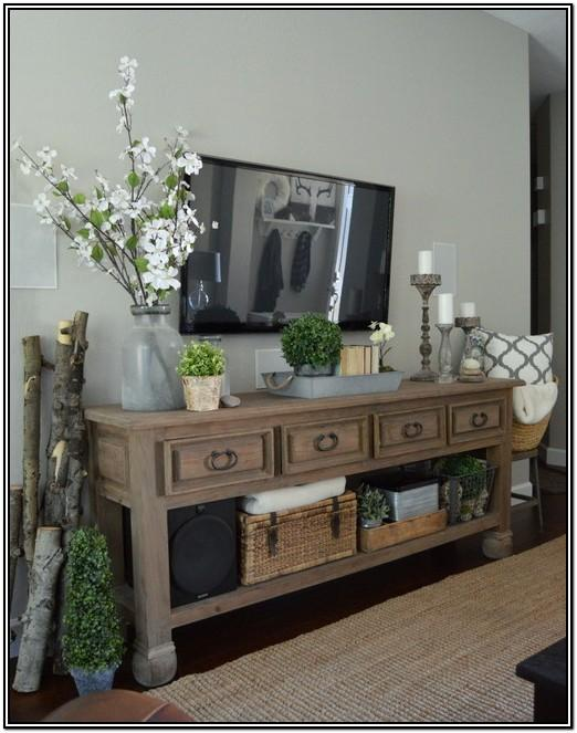Living Room Christmas Tv Stand Decorations