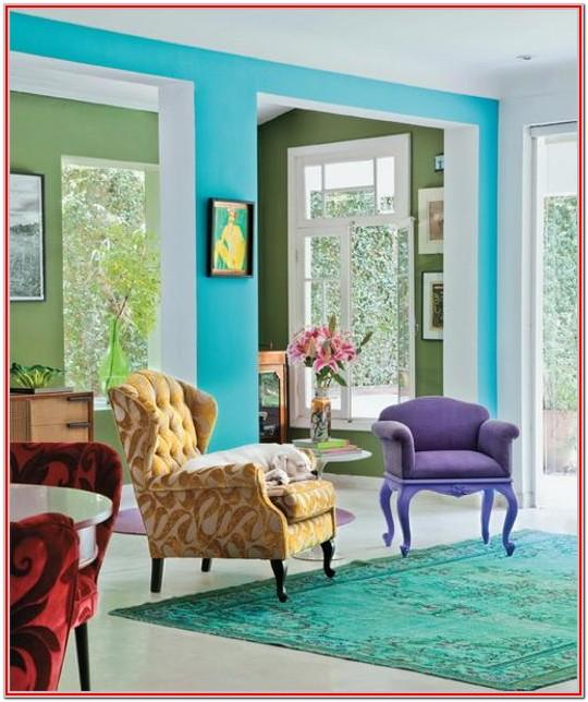 Living Room Colorful Home Decor