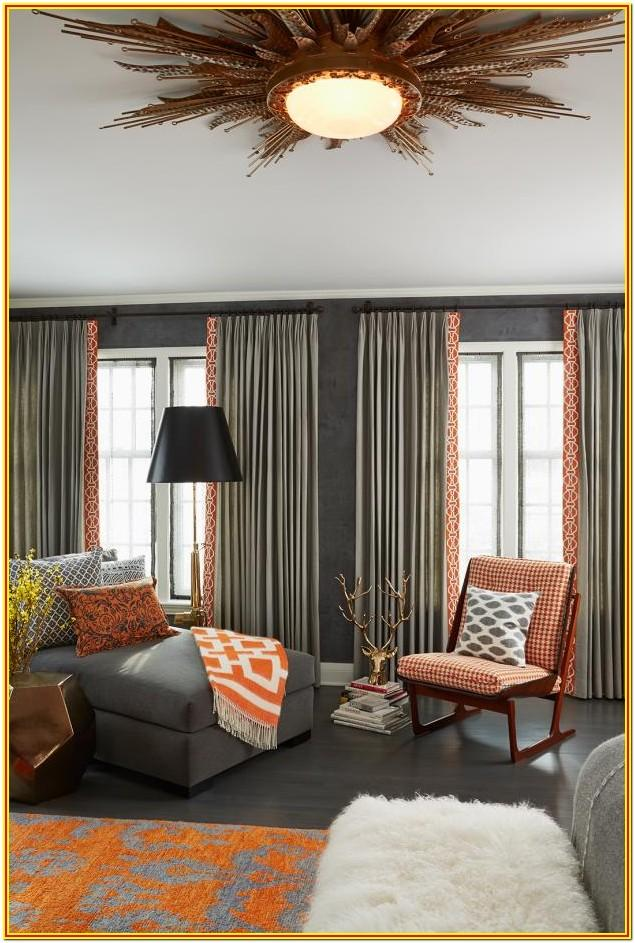 Living Room Curtains For Orange Walls
