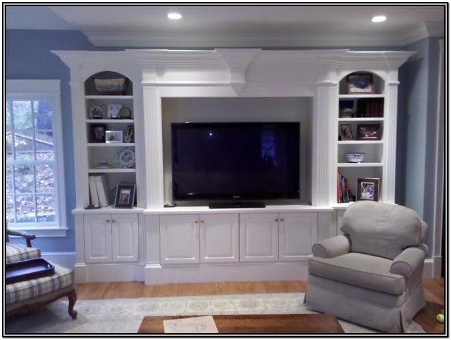 Living Room Custom Entertainment Center Ideas