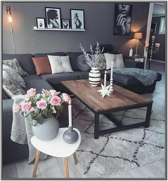 Living Room Decoration Grey Sofa