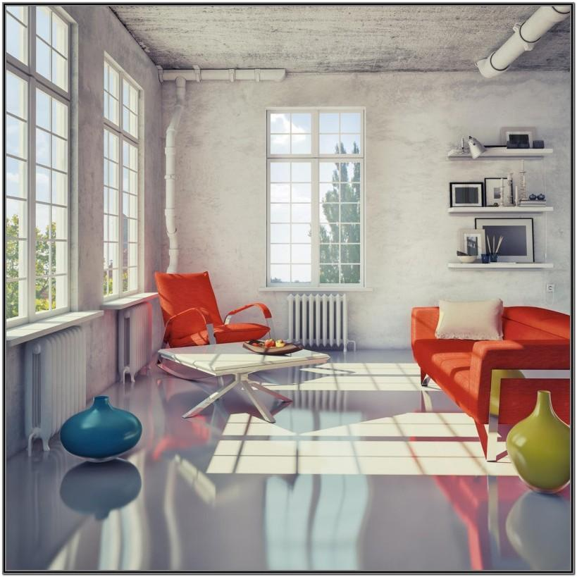 Living Room Epoxy Floor Designs For Home
