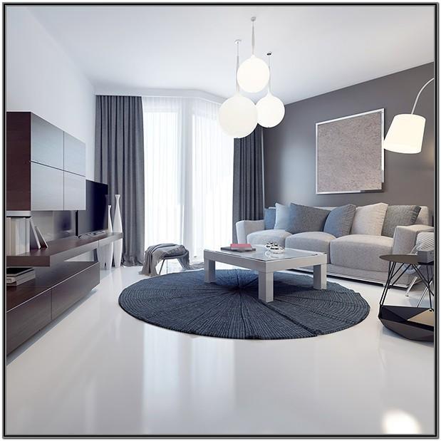 Living Room Epoxy Flooring In House