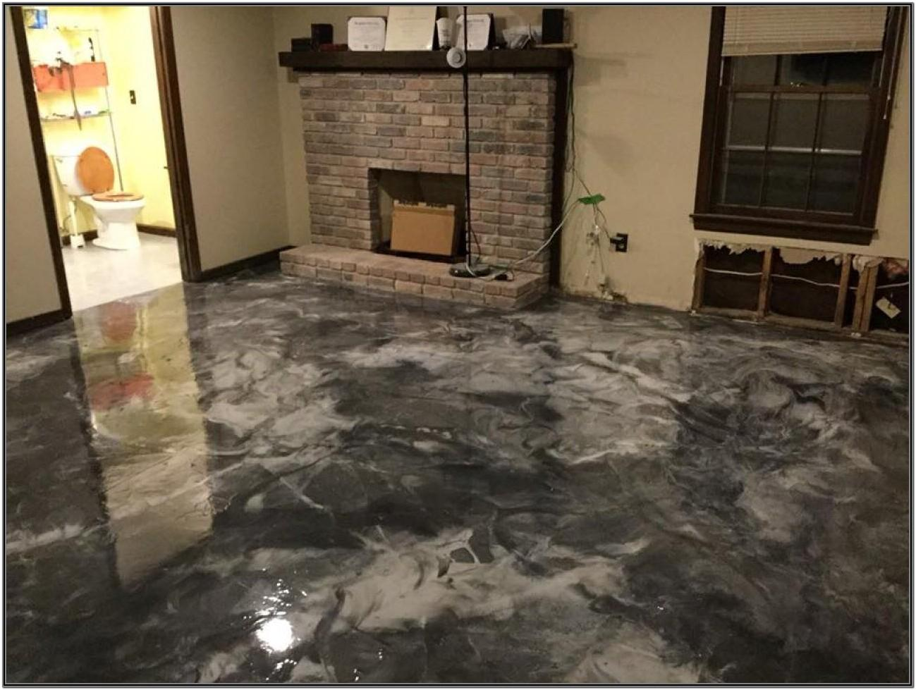 Living Room Epoxy Floors In Homes