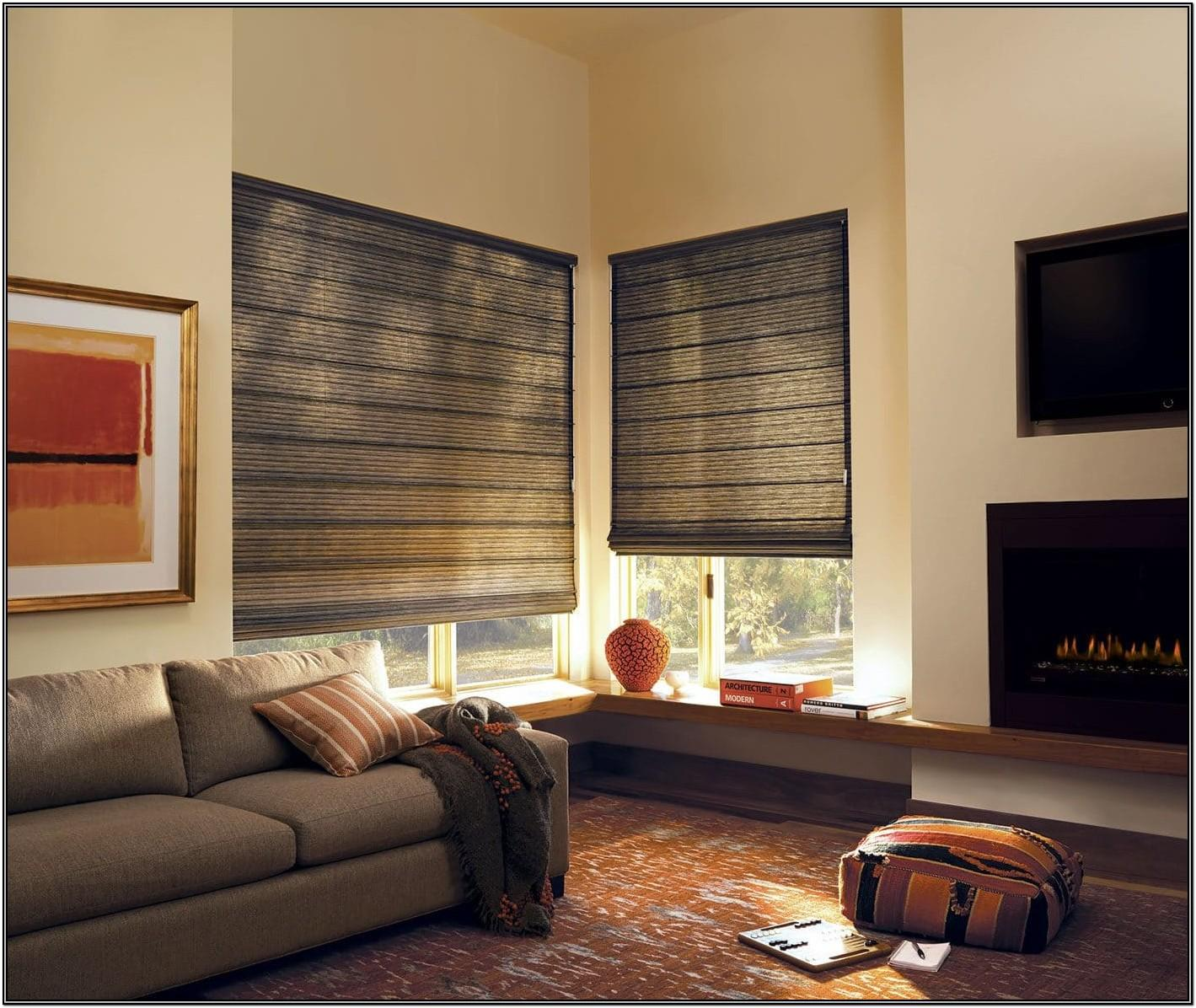 Living Room Fabric Living Room Roman Shades
