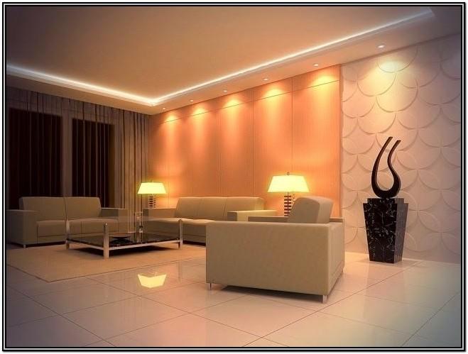 Living Room False Ceiling Lighting Ideas