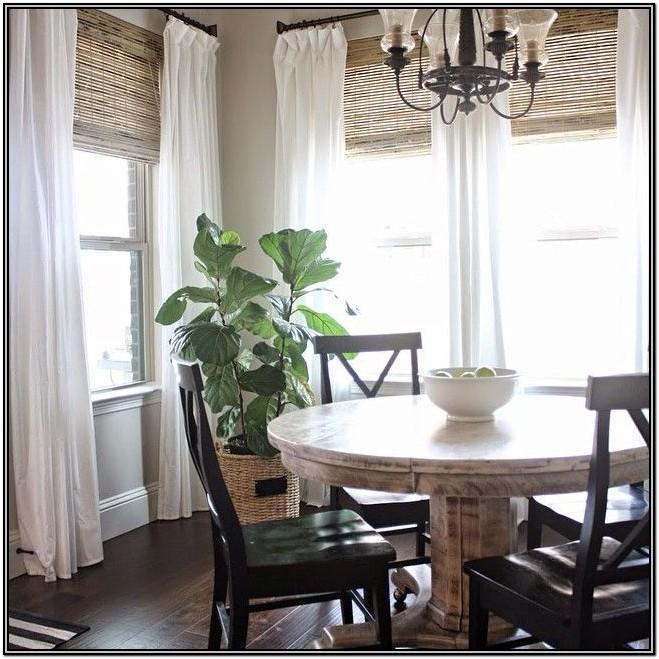 Living Room Farmhouse Roman Shades